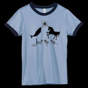 Just the tip... - Bella Women's Heather Ringer T-Shirt