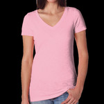 Ladies' Slub Crossover V-Neck Tee